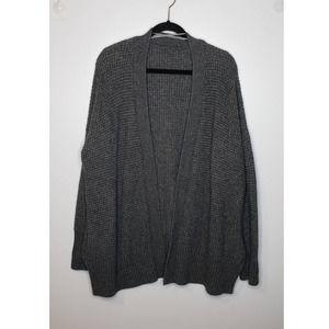 Ann Taylor Waffle Knit Chunky Cardigan Sweater 1X